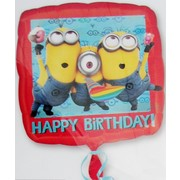 Despicable Me Minions Happy Birthday Foil Balloon 17in Pk1