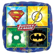 Justice League Symbols Square 17in. Foil Balloon Pk 1