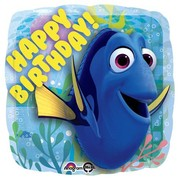 Finding Dory Happy Birthday 17in Square Foil Balloon Pk 1