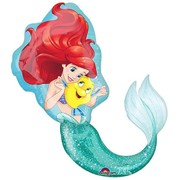 Ariel The Little Mermaid Supershape Foil Balloon (71cm x 86cm) Pk 1