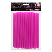 Boss Cake Decorating Plastic Straws (12mm x 22.5cm) Pk 30