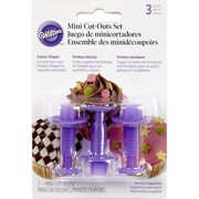 Cake Decorating Mini Fondant Cutter Set (Classic Shapes) Pk 3