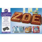 Countless Celebrations Numbers & Letters Cutter Cake Tin / Pan Set Pk 1