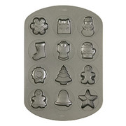 Christmas Holiday Cookie Pan (12 Cavity) Pk 1