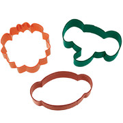 Jungle Pals Animals Cookie Cutter Set Pk 3