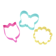 Flowers and Butterfly Cookie Cutter Set Pk 3