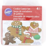 Gingerbread Man Cookie Cutters Pk 4