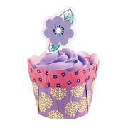 Daisy Flower Pot Cupcake Decorating Kit Pk 1 (12 Cases & 12 Picks)