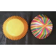 Assorted Colour Wheel / Yellow Baking Cups (5cm) Pk 75