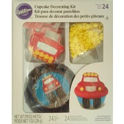 Monster Truck Cupcake Decorating Kit (24 Baking Cups & 24 Picks) Pk 1