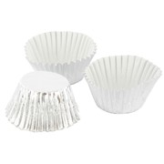 Cups Baking Mini Silver Foil Pk80