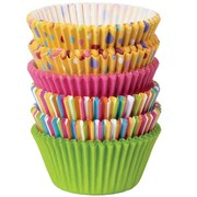 Colourful Paper Baking Cups (Assorted Colours & Designs) Pk 150