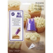 Cake Decorating Duo Piping Tip with 2 Disposable Piping Bags Pk 1