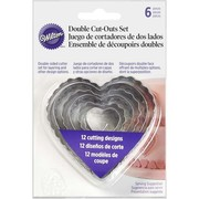 Cake Decorating Assorted Size Hearts Double Sided Cutter Set Pk 6