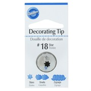 Cake Decorating Carded Star Tip #18 Pk1