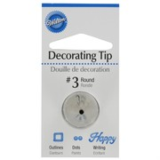 Cake Decorating Carded Round Tip #3 Pk1
