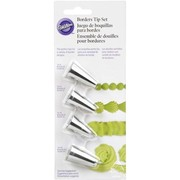 Cake Decorating Carded Borders Tip Set Pk 4