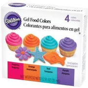 Gel Food Colouring Set (35ml - Assorted Neon Colours) Pk 4