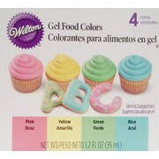 Gel Food Colouring Set (35ml - Assorted Pastel Colours) Pk 4