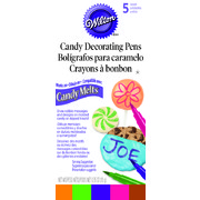 Edible Bright Candy Markers Pk 5