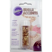 Cake Decorating Sprinkles - Edible Mini Gold Heart Accents (1.8g) Pk 1