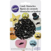 Cake Decorating Edible Candy Moustaches (25g) Pk 1