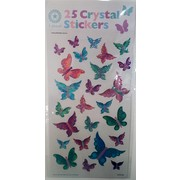 Assorted Crystal Butterflies Stickers (25 Stickers)
