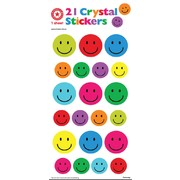 Assorted Smiles Crystal Stickers (21 Stickers)