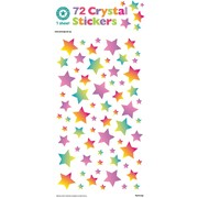 Crystal Rainbow Star Stickers (72 Stickers)
