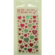 Assorted Bubble Hearts Crystal Stickers (76 Stickers)