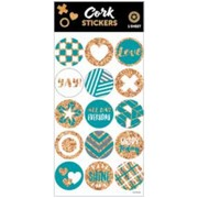 Assorted Cork Stickers (15 Stickers)