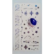 Starry Night Assorted Foil Tattoos (1 Sheet) Pk 1
