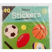 Assorted Sports Stickers (40 Stickers) Pk 1