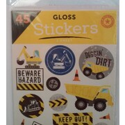 Construction Stickers Assorted (45 Stickers) Pk 1