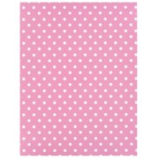 Gift Wrap Medium Dots-Pink 700mm x 495mm Pk1