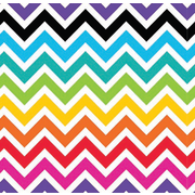 Bright Chevron Gift Wrap (700mm x 495mm) Pk 1