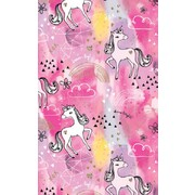 Gift Wrap Watercolour Unicorn 700mm x 495mm Pk 1