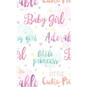 Gift Wrap Baby Girl Watercolour 700mm x 495mm Pk 1