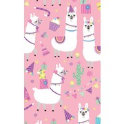 Gift Wrap Llama Party 700mm x 495mm Pk 1