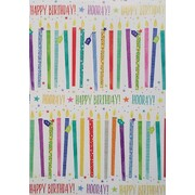 Gift Wrap - Happy Birthday Candles (700mm x 495mm) Pk 1