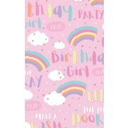Gift Wrap Birthday Girl Rainbow Clouds 700mm x 495mm Pk 1