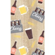 Gift Wrap Beers Cheers 700mm x 495mm Pk 1