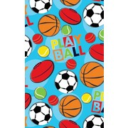 Gift Wrap Sports Play Ball 700mm x 495mm Pk 1
