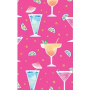 Gift Wrap Fancy Drinks 700mm x 495mm Pk 1