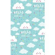 Gift Wrap Baby Clouds 700mm x 495mm Pk 1