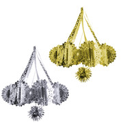 Assorted Tinsel Chandelier Decorations 65cm Pk 2