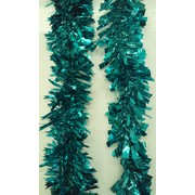Assorted Design Teal Tinsel Decoration (2m) Pk 1 (1 Tinsel Decoration Only)