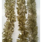 Assorted Design Gold Tinsel Decoration (2m) Pk 3