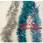 Assorted Blue, Teal & Silver Tinsel Decoration (2m) Pk 3