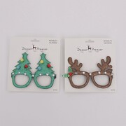 Assorted Christmas Tree or Reindeer Novelty Glasses Pk 2
